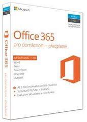 Microsoft Office 365 pro domácnosti / 5 uživatelů 32/64bit.Cz,předplatné na 1rok (6GQ-00721)