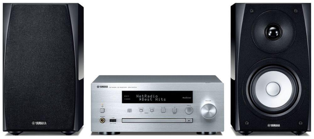 Yamaha MCR-N570D, černá/stříbrná
