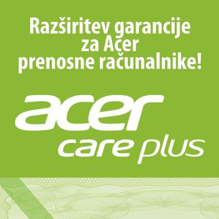 Acer podaljšanje garancije na 3 leta + Care Plus, za prenosne računalnike