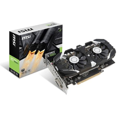 MSI grafična kartica GeForce GTX 1050 TI 4GT OC, 4GB GDDR5