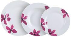 Banquet set krožnikov, cvetlični motiv