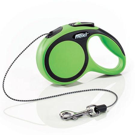 Flexi New Comfort XS zsinóros póráz 3m/8kg zöld