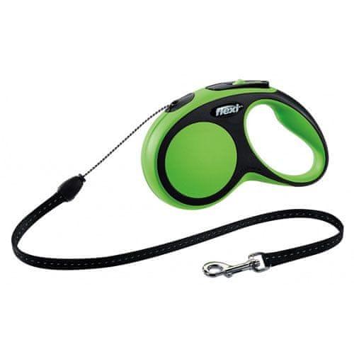 Flexi vodítko New Comfort S lanko 8m/12kg zelené