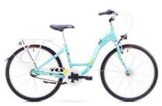 """Romet dziecięcy rower miejski Panda 24"""" lux niebieski S 13"""" 2017"""