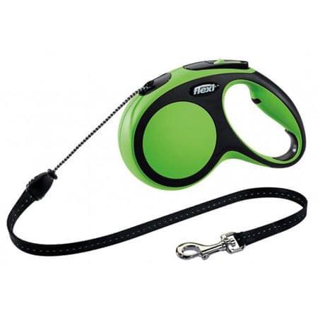 Flexi New Comfort M zsinóros póráz 5m/20kg zöld
