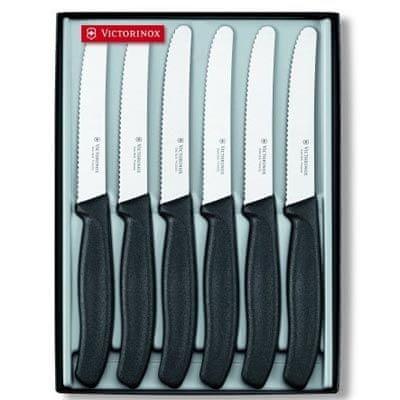Victorinox set nožev z žagico 6.7333.6G, črn