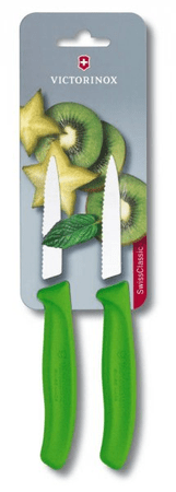 Victorinox nož za zelenjavo (6 7636 L114B), 2 kosa, zelen