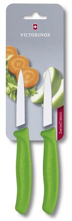 Victorinox nož za zelenjavo (6.7606.L114B), 2 kosa, zelen