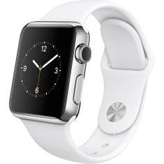 Apple Watch Series 2, 38 mm, stříbrný hliník – bílý sportovní řemínek