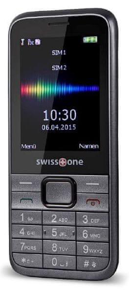Swisstone SC560, Dual SIM, šedá