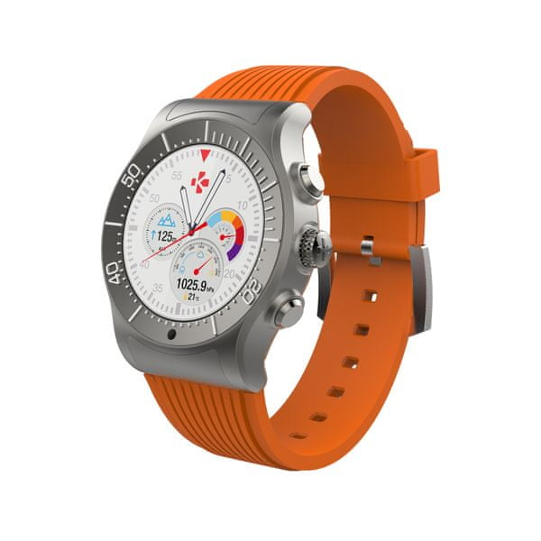 MyKronoz Chytré hodinky ZeSport titan/oranžová