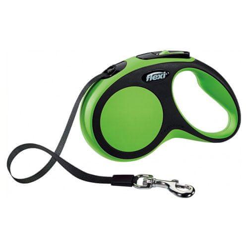 Flexi vodítko New Comfort S pásek 5m/15kg zelené