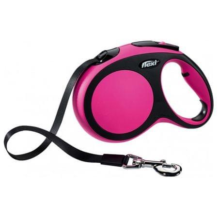 Flexi povodec New Comfort L, 8 m/50 kg, roza