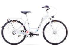 """Romet dziecięcy rower miejski Panda 24"""" lux biały S 13"""" 2017"""