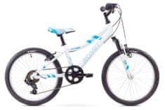 """Romet dziecięcy rower górski Jolene Kid 20"""" biało-niebieski S 11"""" 2017"""