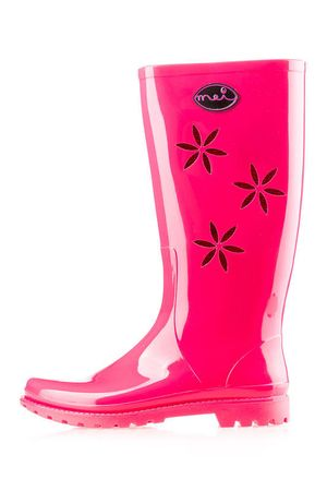 Mei ženski gumijasti škornji La Flowers 363 39 roza