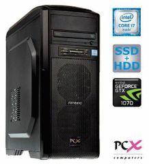 PCX namizni računalnik Extian F6207 i7-7700/16GB/256SSD+2TB/GTX1070/FreeDOS
