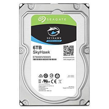 Seagate trdi disk SkyHawk, 6TB 7200 256MB SATA 6Gb/s