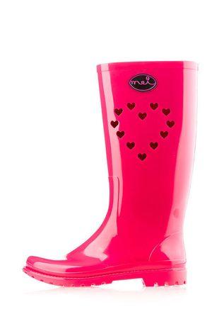 Mei ženski gumijasti škornji La 1 Heart 40 roza