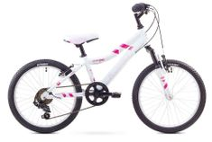 """Romet dziecięcy rower górski Jolene Kid 20"""" biało-różowy S 11"""" 2017"""