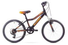 """Romet dziecięcy rower górski Rambler Kid 20"""" czarny-pomarańczowy S 11"""" 2017"""