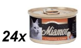 Finnern pašteta za mačke Miamor, perutninska jetra, 24 x 85 g