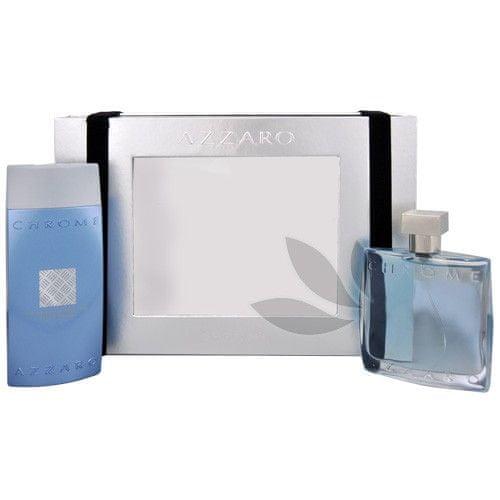 Azzaro Chrome - EDT 100 ml + sprchový gel 200 ml