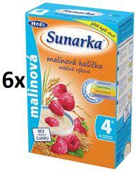 Sunarka Malinová kašička mliečna, 6x225g