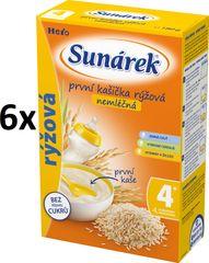 Sunárek Prvá kašička ryžová nemliečna, 6x180g