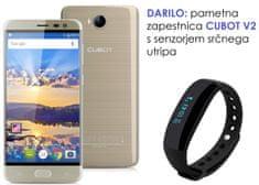 Cubot GSM telefon Cheetah 2 LTE, zlat + darilo: pametna zapestnica Cubot V2