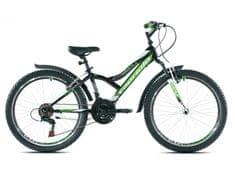 Capriolo dječji brdski bicikl MTB Diavolo 400 FS 13, zeleni