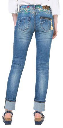 Desigual dámské jeansy Refriposas 26 modrá