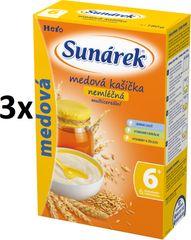 Sunárek Medová kašička nemléčná s osmi cereáliemi, 3x180g