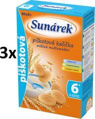 Sunárek Piškotová kašička mléčná, 3x225g