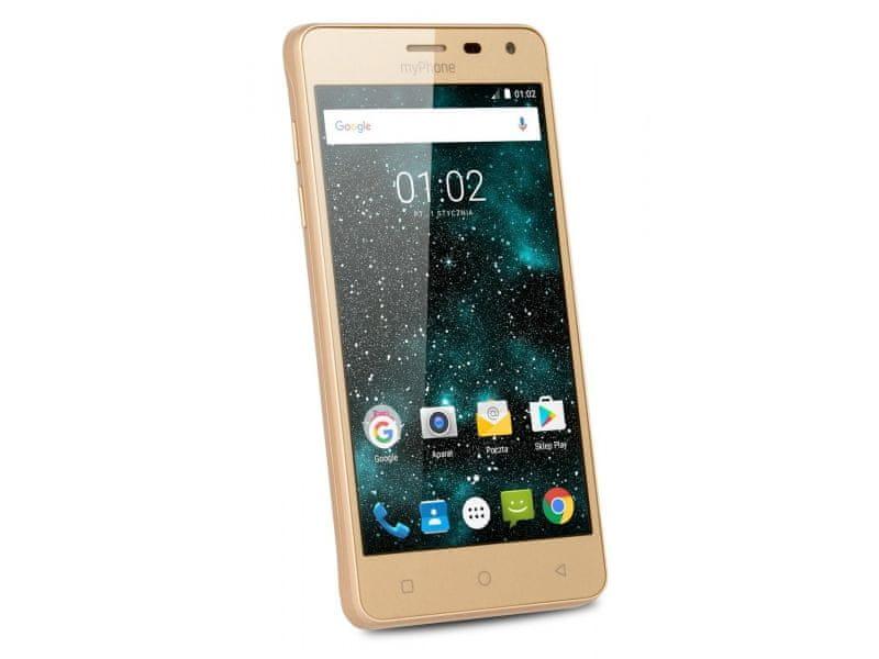 myPhone Prime Plus, Dual SIM, zlatý