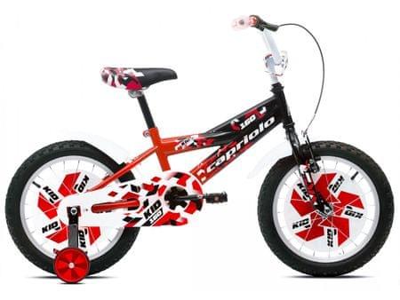 Capriolo otroško kolo BMX KID 9, črno-rdeče