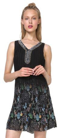 Desigual ženska obleka Sophia 44 črna