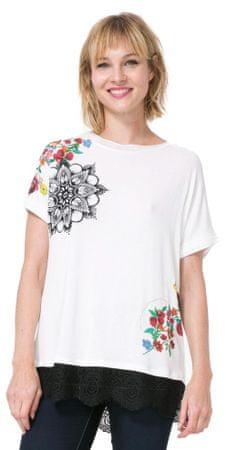 Desigual dámské tričko Oporto S smetanová