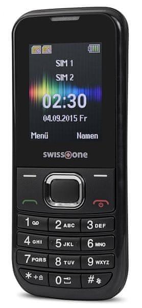Swisstone SC230, Dual SIM, černá
