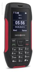 Swisstone SX567, Dual SIM, outdoorový telefon, černá/červená