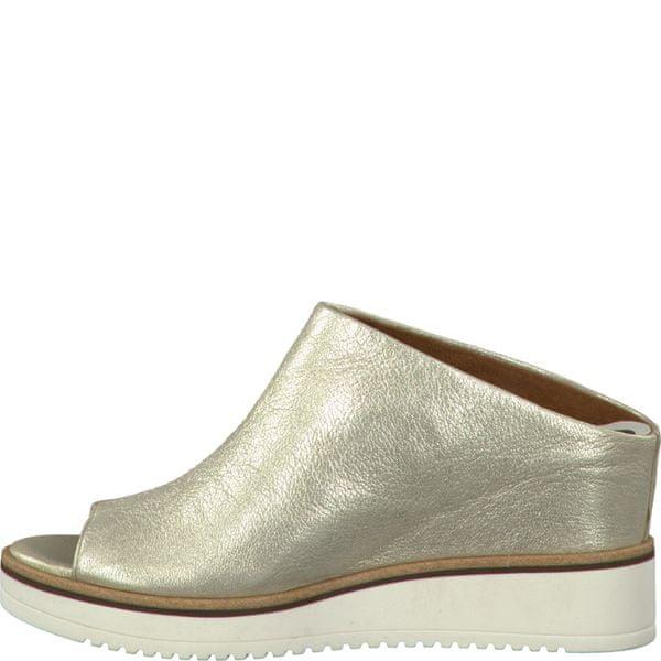 Tamaris dámské pantofle 38 zlatá