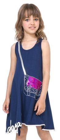 Desigual dekliška obleka Madison 116 modra