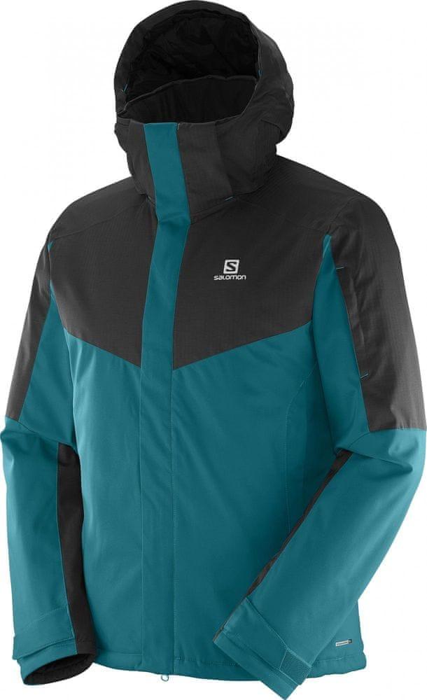 Salomon kurtka narciarska Stormseeker Jkt M Blue Steel Black S ... b803013538e
