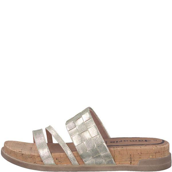 Tamaris dámské pantofle 41 zlatá