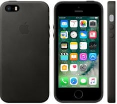 Apple Kožený kryt, Apple iPhone SE MMHH2ZM/A, černá