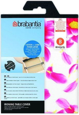 Brabantia Bavlnený poťah124x38 vel.B, Pink Santini, 2mm molitan