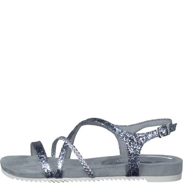 Tamaris dámské sandály 41 stříbrná