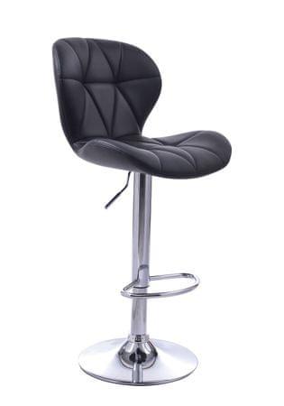 Barski stol Indira OS163, črn