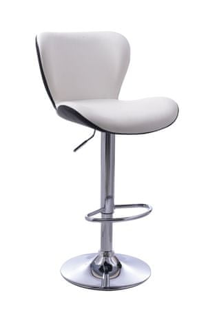 Barski stol Casper OS162, belo-črn