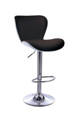 Barski stol Casper OS164, črno-bel